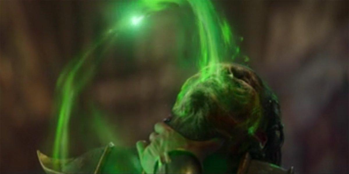 Shao Tsung Sucks Out Kung Lao's Soul Mortal Kombat