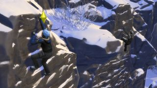 The Sims 4 Snowy Escape how to rock climb