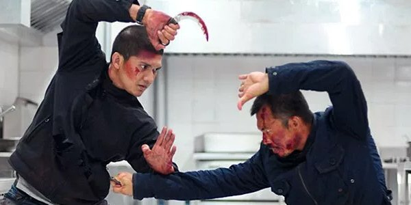 Iko Uwais and Joe Taslim fight In The Raid