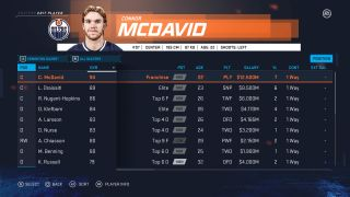 NHL 20 ratings: the top 10 players at every position