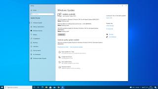 The main Windows Update settings screen in Windows 10