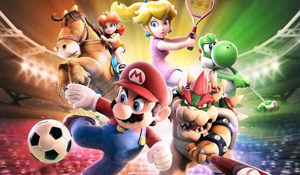 Mario and friends play various sports