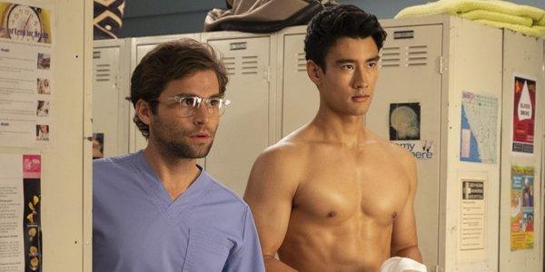 Grey's Anatomy Seaso 15 Jake Borelli as Dr. Levi Schmitt Alex Landi as Dr. Nico Kim ABC