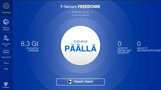 F-Secure Freedomen käyttöliittymän etusivu