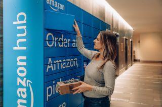 An Amazon Hub locker