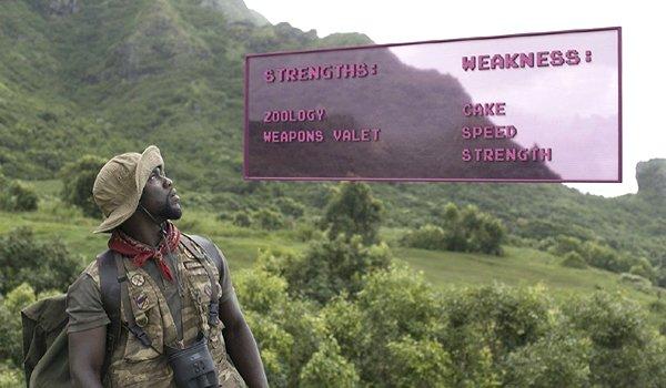 "Kevin Hart as Franklin ""Moose"" Finbar in Jumanji: Welcome to the Jungle"