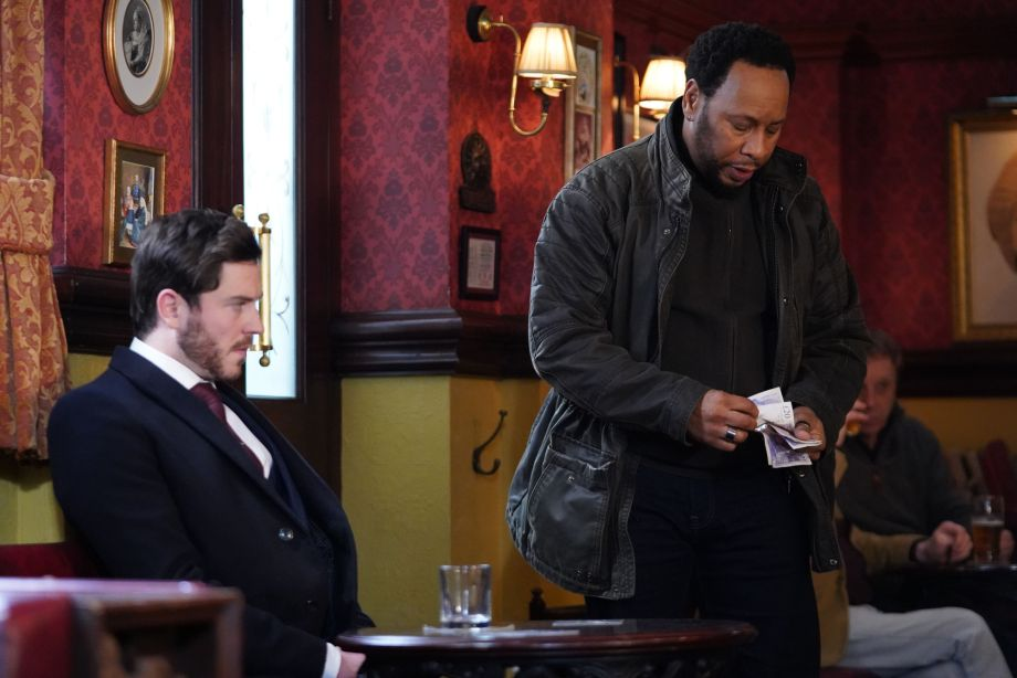 Gray is seething at Mitch's offer of money in EastEnders