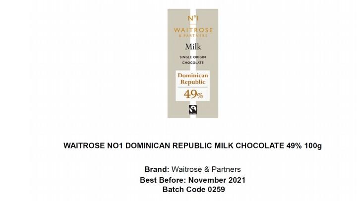 Waitrose No.1 Dominican Republic Milk Chocolate 49%