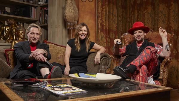 Boy George, Marilyn and Geri Halliwell in Gogglebox's celebrity episode