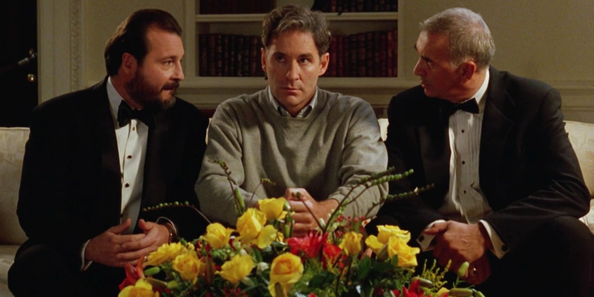 Kevin Dunn, Kevin Kline, and Frank Langella in Dave