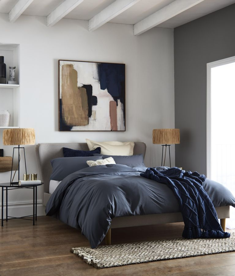 Next bed with bold art
