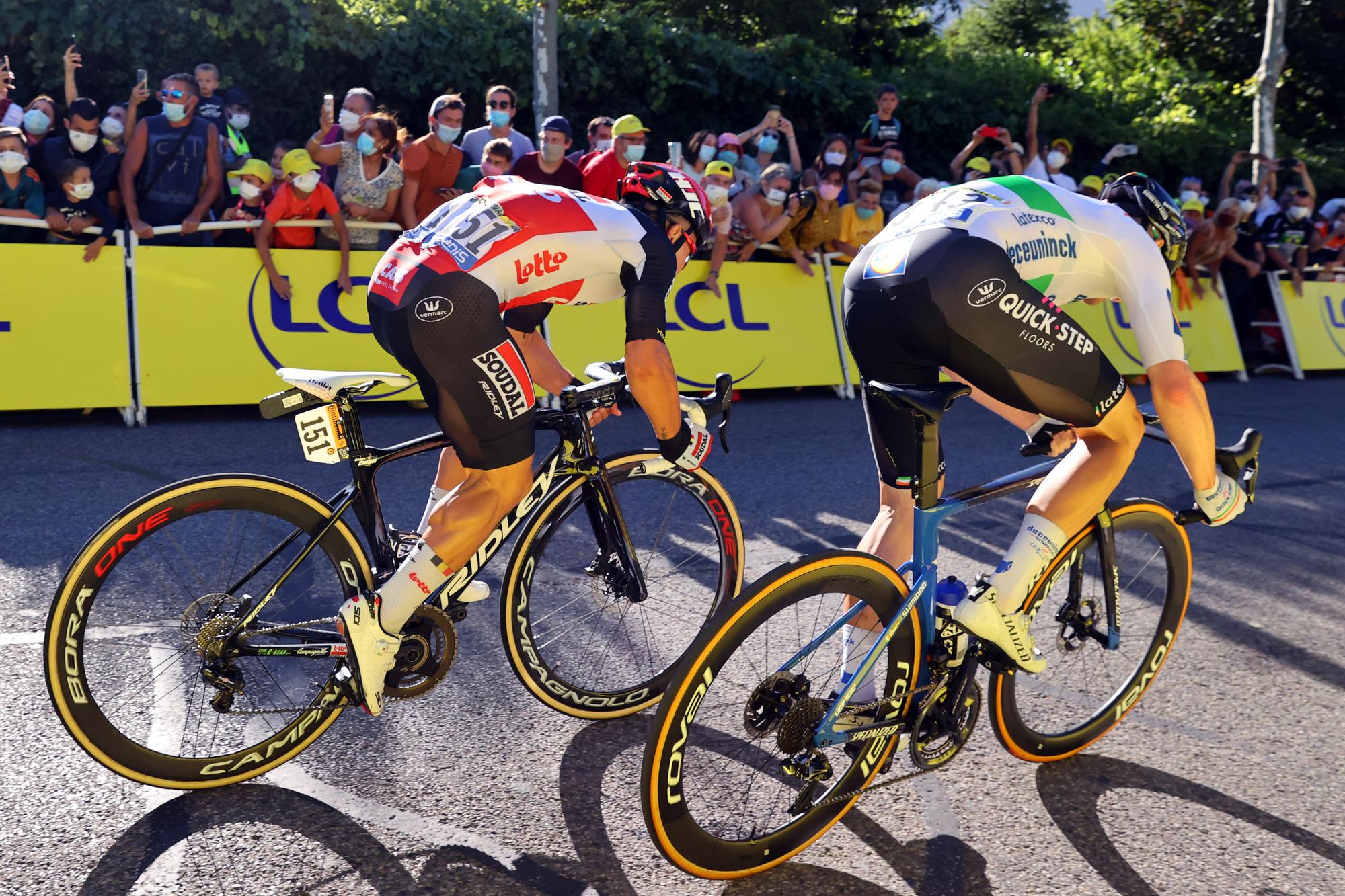 Tour de France 2020 107th Edition 3rd stage Nice Sisteron 198 km 31082020 Caleb Ewan AUS Lotto Soudal Sam Bennett IRL Deceuninck Quick Step photo Kei TsujiBettiniPhoto2020