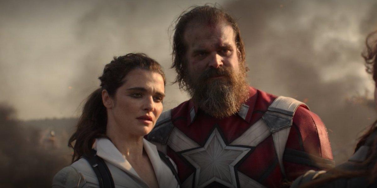 Rachel Weisz and David Harbour in Black Widow