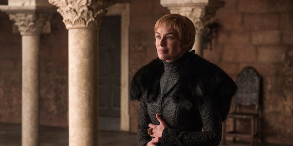 Cersei Lannister in the finale of Game of Thrones
