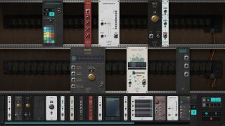 An image of synthesizer modules from puzzle game The Signal State.