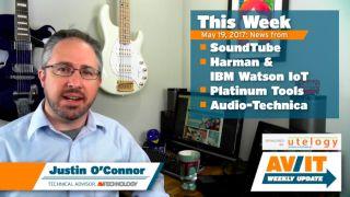 [VIDEO] AV/IT Weekly Update: SoundTube Pendant Dante Speakers, Harman & IBM Watson IoT, Platinum Tools LANSeeker, Audio-Technica