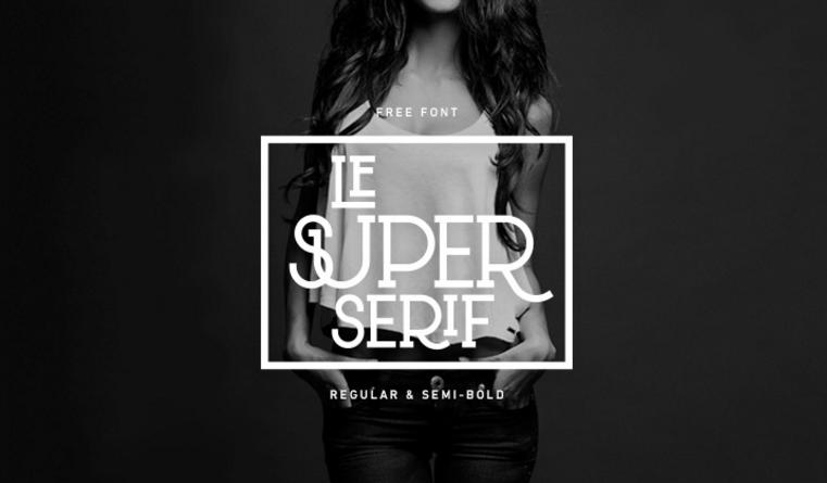 Best free fonts: Le Super Serif