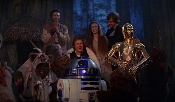 star wars return of the jedi end scene