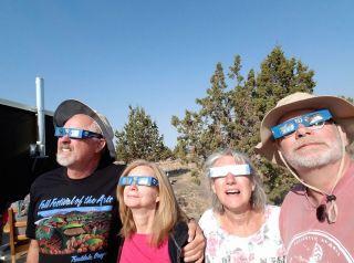 eclipse selfie Oregon