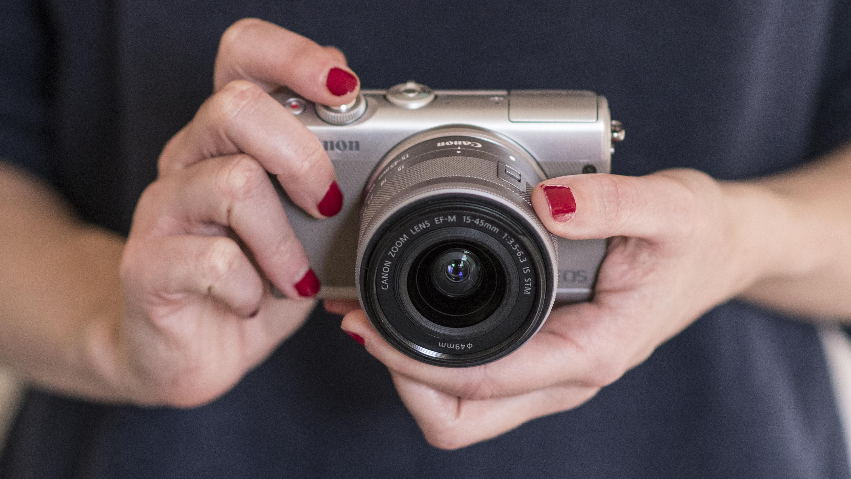 Canon Eos M100 Review Techradar M10 Kit 15 45 Is Stm M 10