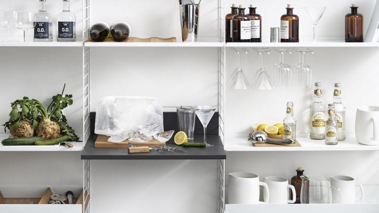 Secret scandinavian kitchen tip, cork in a shelving unit
