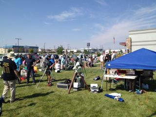 Eclipse viewers at Casper, Wyoming