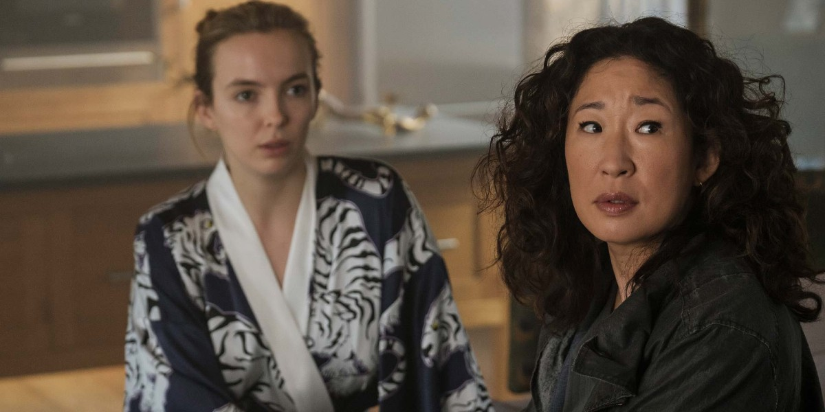 Jodie Comer and Sandra Oh in Killing Eve