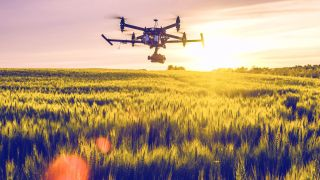 BT drone in flight.
