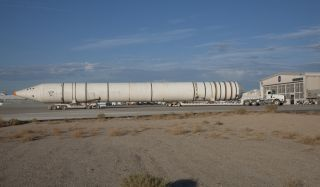 Shuttle Solid Rocket Boosters Moved to California