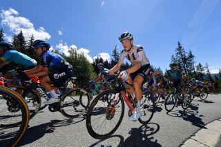 Sunweb's Nikias Arndt battles the heat during stage 4 of the 2020 Critérium du Dauphiné