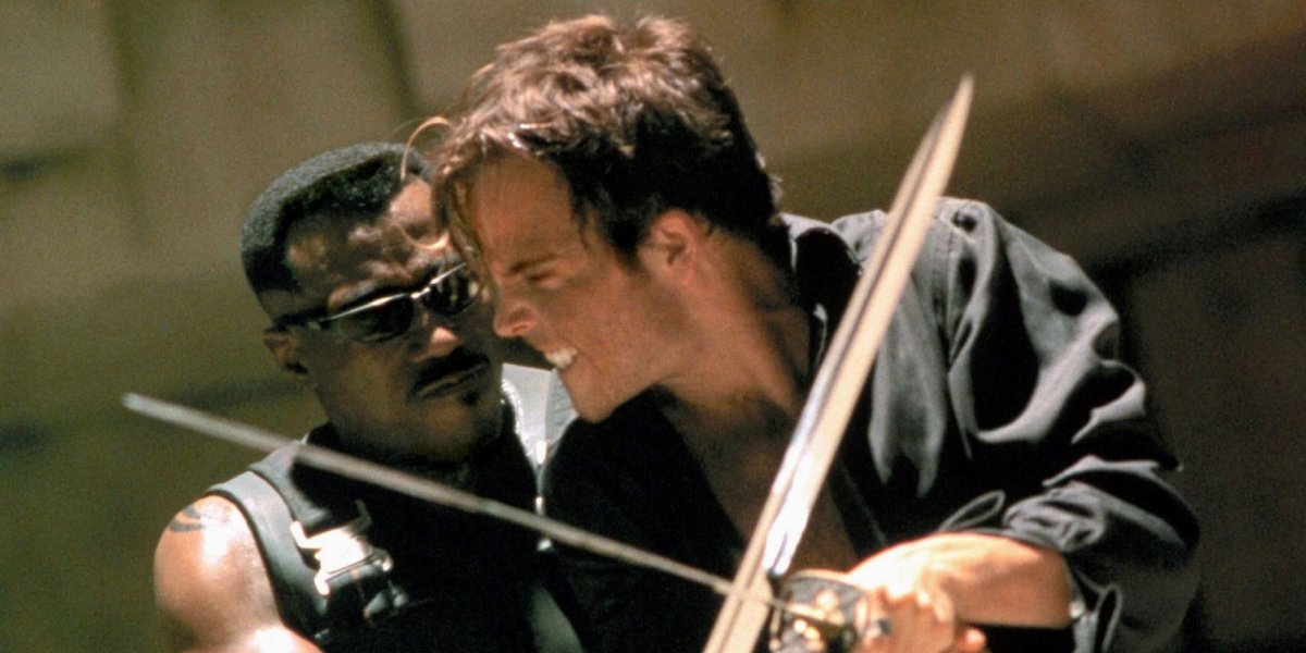 Wesley Snipes and Stephen Dorff in Blade