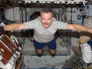 Chris Hadfield Aboard the ISS