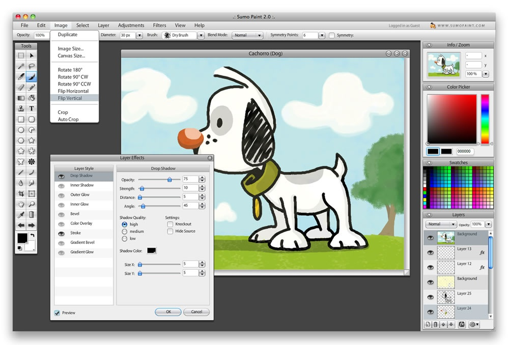 Sumo Paint - free graphic design software