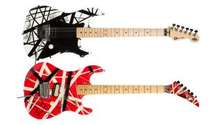 Two guitars customized and played by Eddie Van Halen