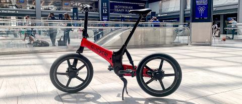 GoCycle G4i+ parked at Moynihan Train Hall