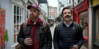 Brendan Hunt and Jason Sudeikis in Ted Lasso