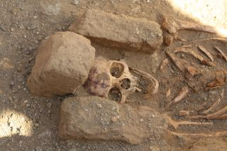 "The skeletons found in ""cemetery two"" at al-Ghazali in Sudan were all males, suggesting monks who lived in the nearby Christian monastery were buried there."