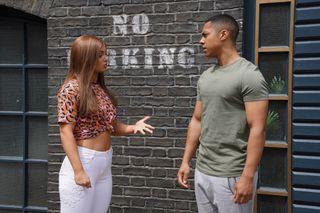 EastEnders Tiffany and Keegan argue