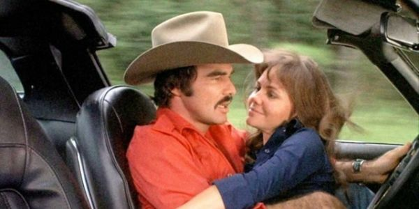Burt Reynolds and Sally Field together in Smokey and the Bandit