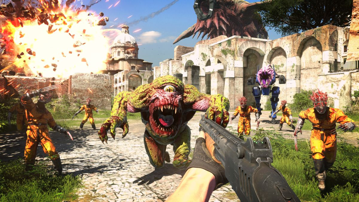 Serious Sam 4 threatens to put 100,000 enemies on your screen at once