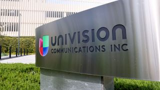 Univision sign outside office building