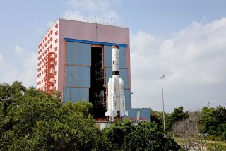 ISRO prepared a Geosynchronous Satellite Launch Vehicle rocket to launch an Earth-imaging satellite called GISAT-1; the launch has since been delayed indefinitely.