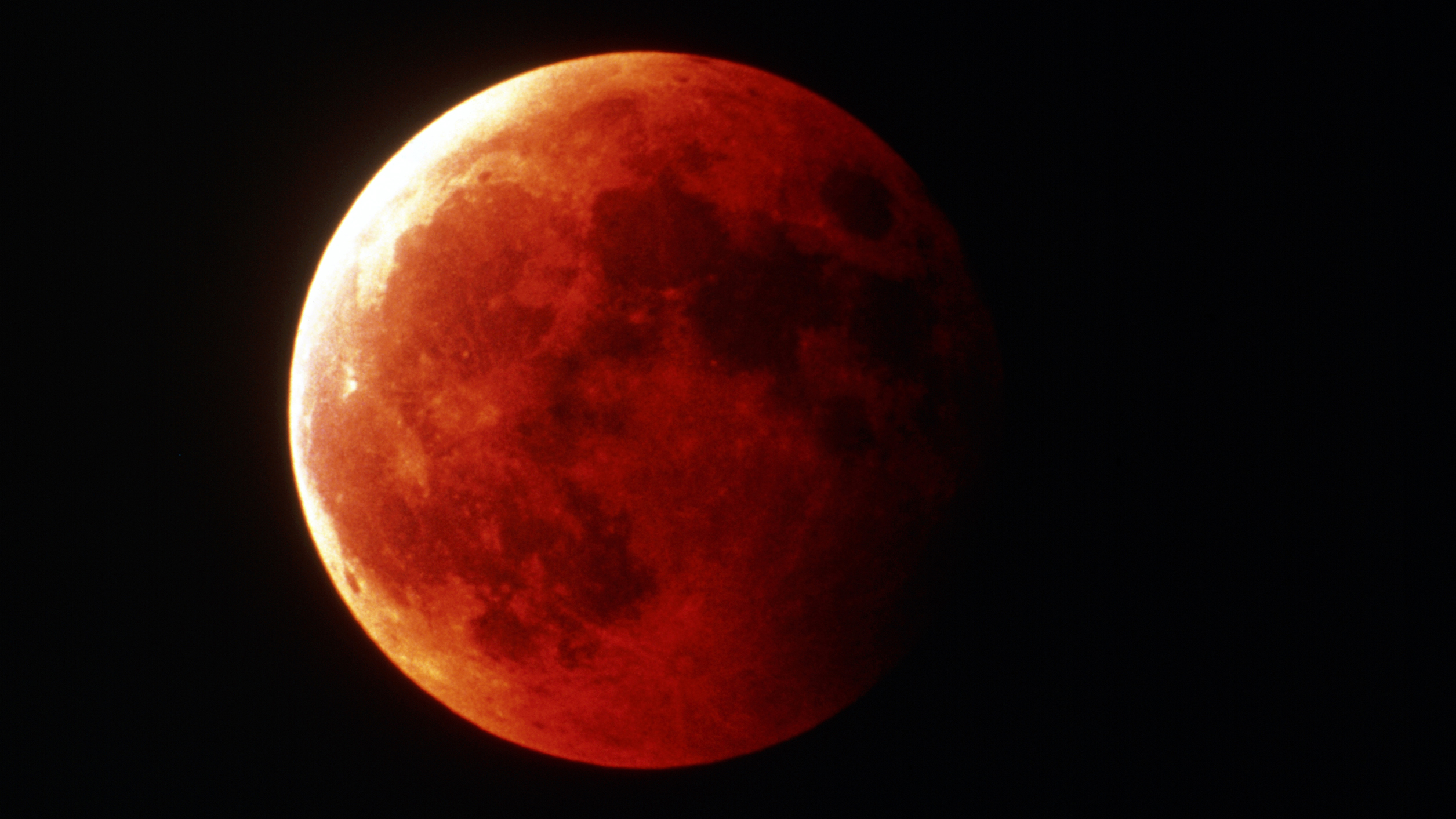 Blood moon in close-up by John Sanford