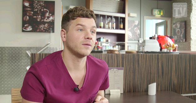 David Ames plays Dom in Holby