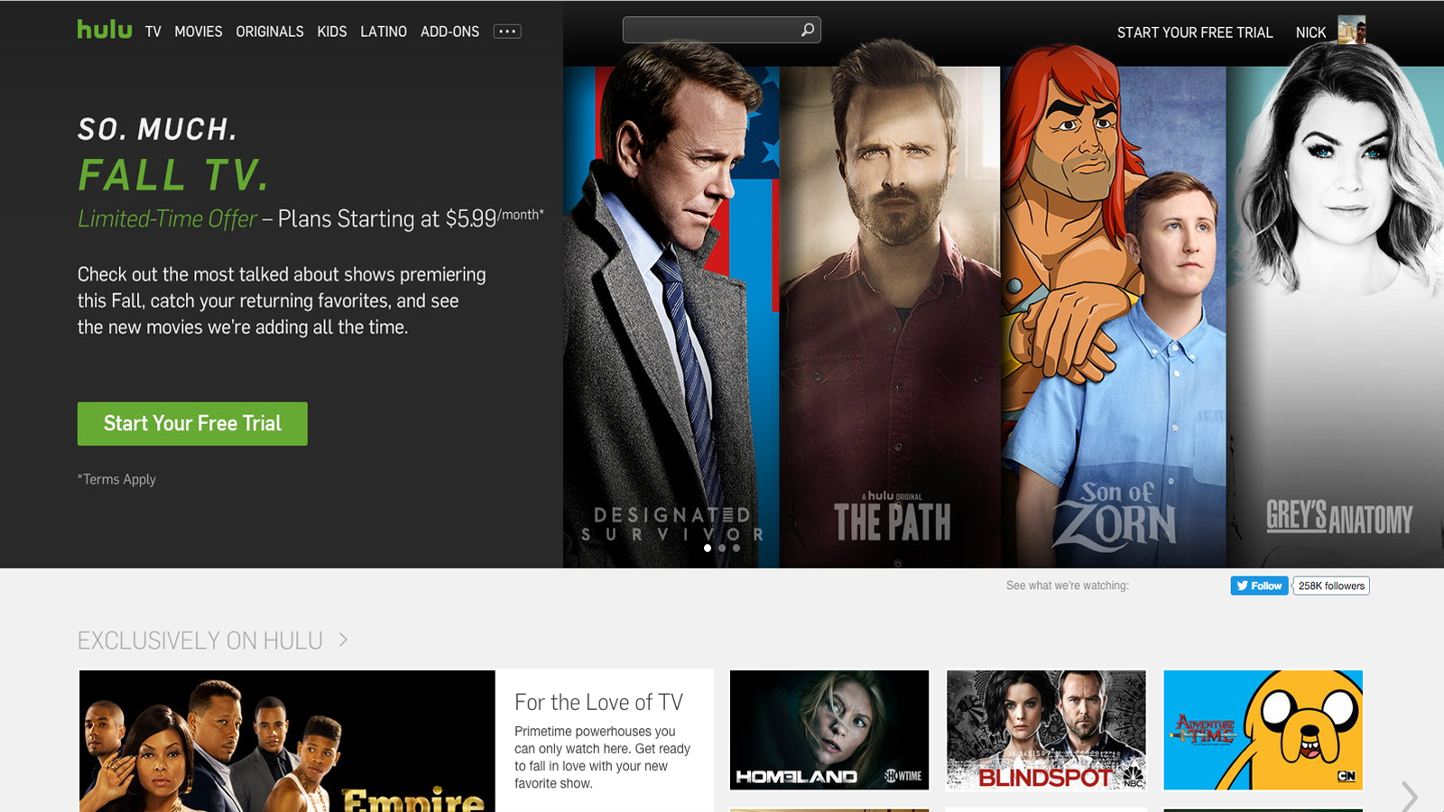 Currently Hulu watchers have three different locations where they can save  and find the shows they're most interested in watching. There's Stuff You  Watch, ...