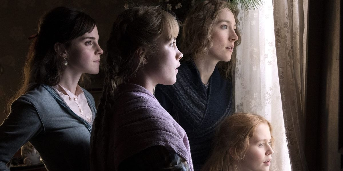 Little Women the March sisters look out their window