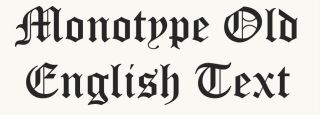 Old English fonts: 10 of the best