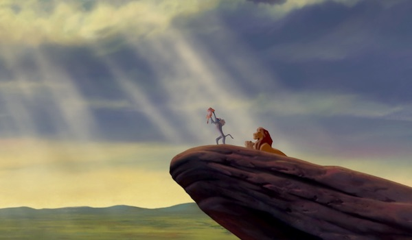 The opening scene of The Lion King