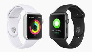 Billede af Apple Watch i sort og hvid
