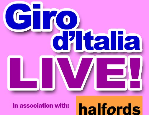 Giro d'Italia 2011 live in association with Halfords